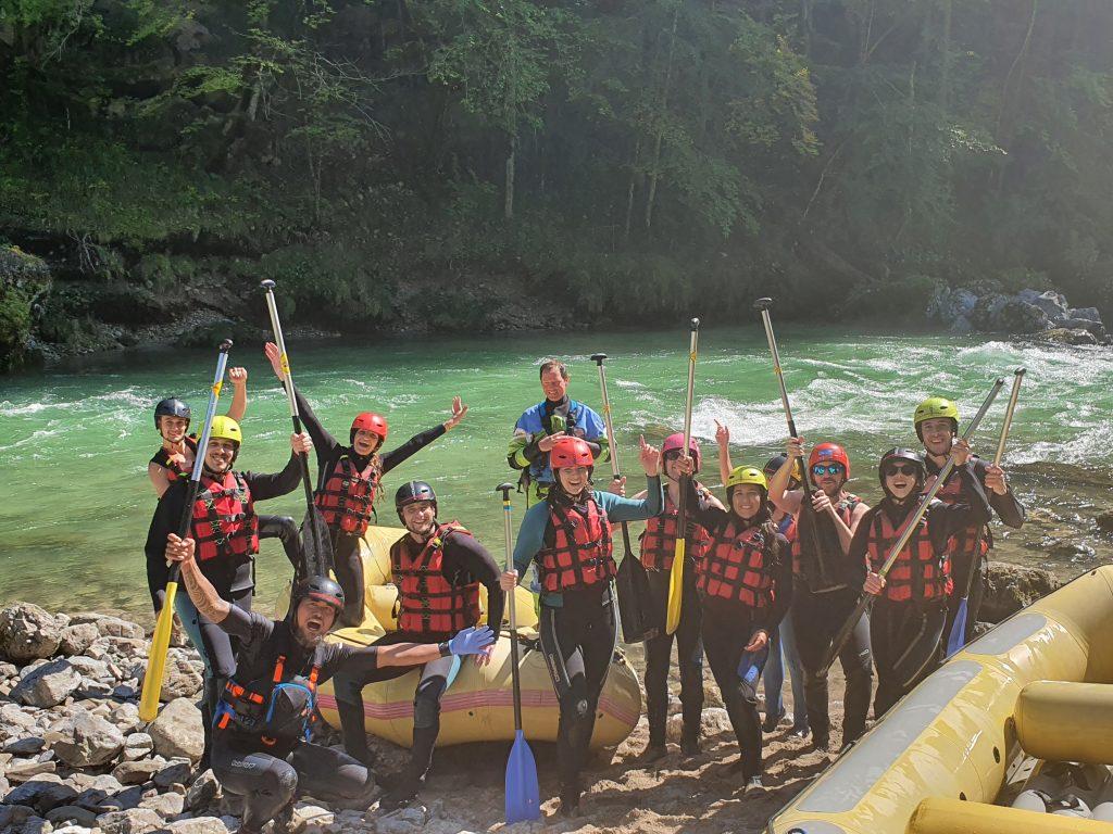rafting finish